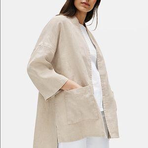 Eileen Fisher heavy organic linen jacket